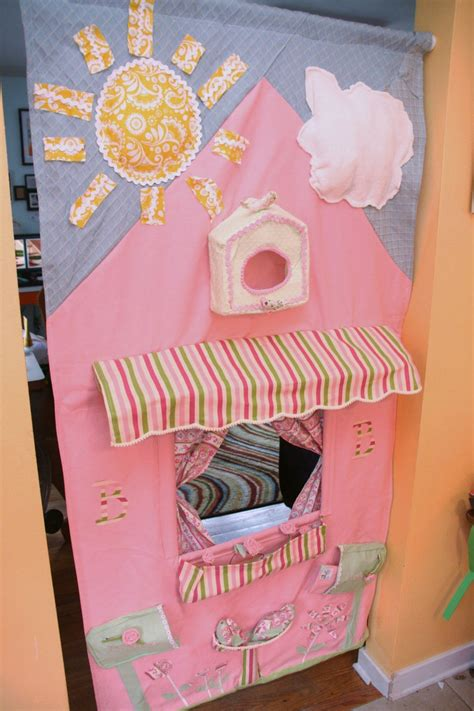 Diy Puppet Theater Drop Down Fabric Shelf