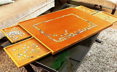 Diy Puzzle Table With Drawers Plans