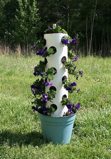Diy Pvc Plant Tower