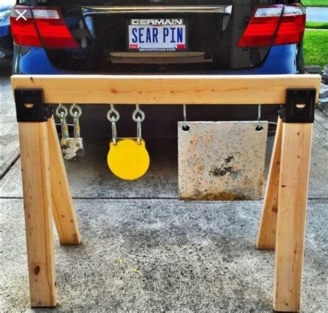 Diy Pvc Stand With Reactive Targets Explosive