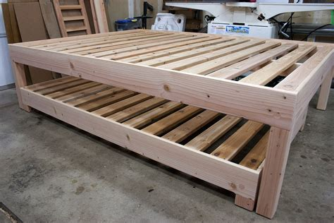Diy Queen Bed With Twin Trundle