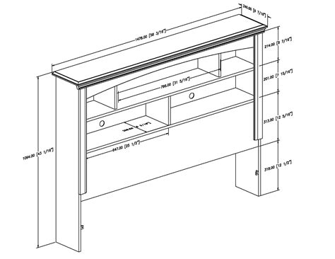 Diy Queen Bookcase Headboard Plans