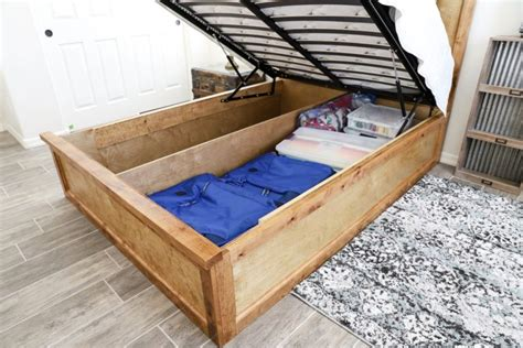 Diy Queen Lift Storage Bed Frame