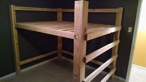 Diy Queen Loft Bed With Stairs