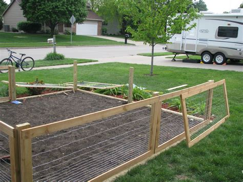 Diy Rabbut Fence Around Raused Garden
