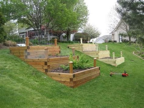 Diy Raised Garden Bed On Sloped