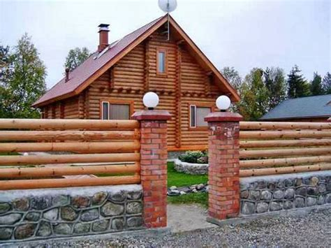 Diy Raw Wood Fencing