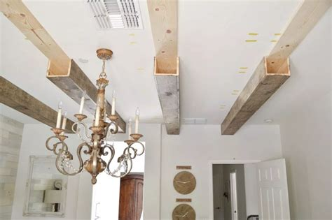 Diy Real Wood Ceiling Beams