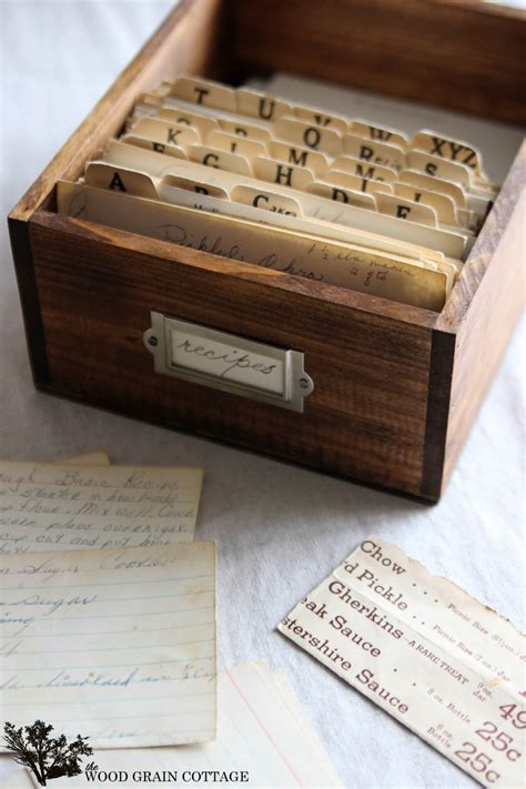Diy Recipe Card Box