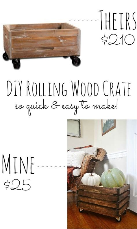 Diy Reclaimed Wood Rolling Crates