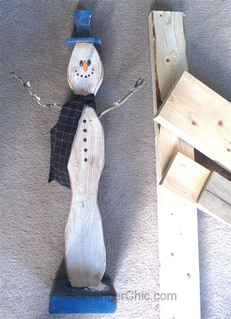 Diy Reclaimed Wood Snowman Crafts