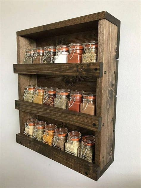 Diy Reclaimed Wood Spice Rack