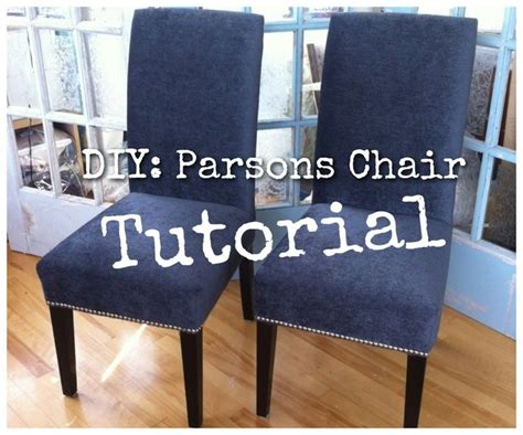 Diy Recover Parsons Chair