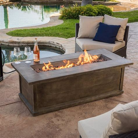 Diy Rectangle Fire Pit Table