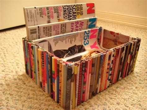 Diy Recycled Magazine Boxes