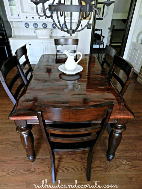 Diy Refinish Dining Room Table Top