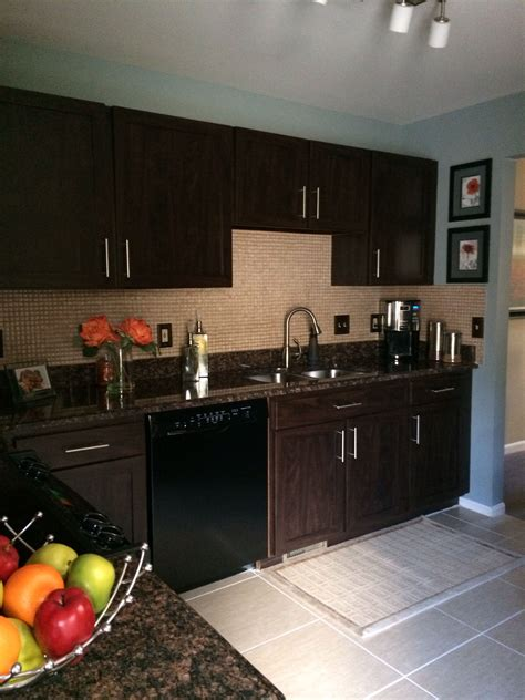 Diy Refinish Espresso Cabinets To White Cabinets