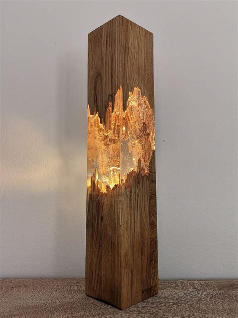 Diy Resing And Wood Lamp Design