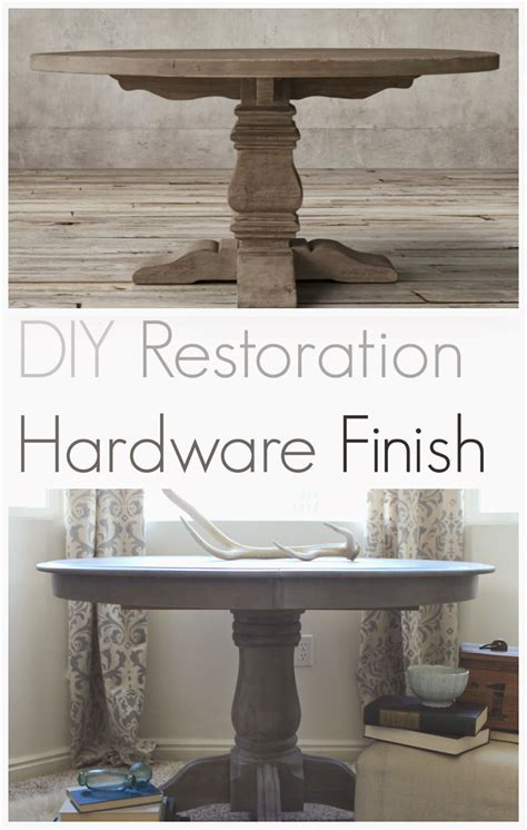 Diy Restoration Hardware Table Finish Is Sticky