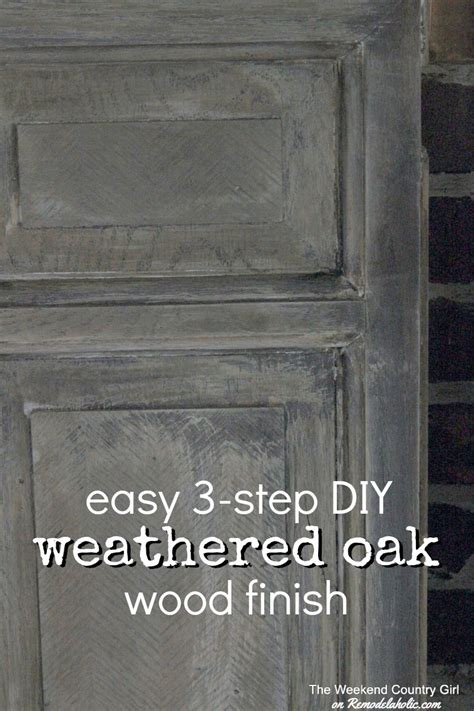 Diy Restoration Hardware Weathered Oak Finish