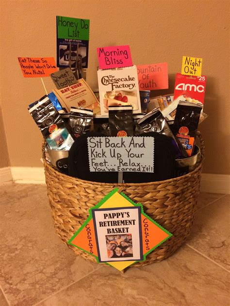 Diy Retirement Gift Basket For Men