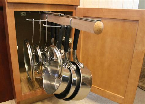 Diy Retractable Hanging Rack For Pots And Pans