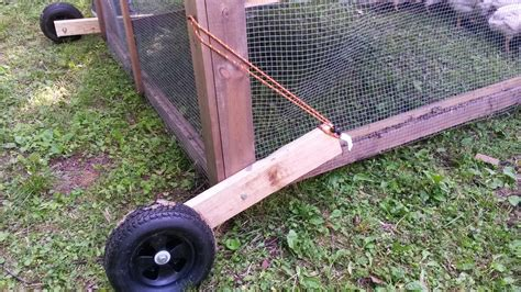 Diy Retractable Wheels For Chicken Tractor