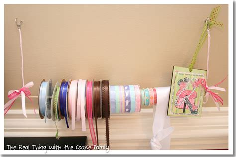 Diy Ribbon Holders On Dowel Rod