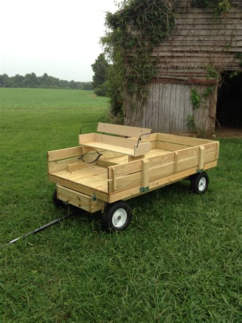 Diy Riding Mower Wood Trailer Floor