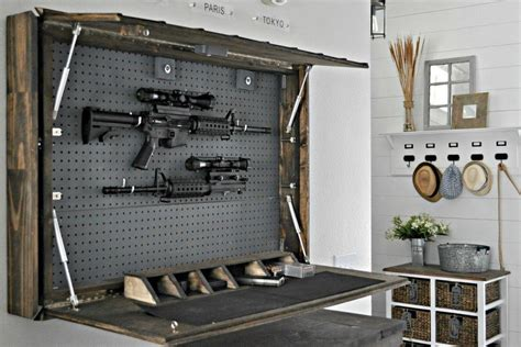 Diy Rifle Cabinet Storage