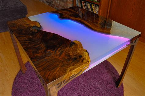 Diy River Table With Resin