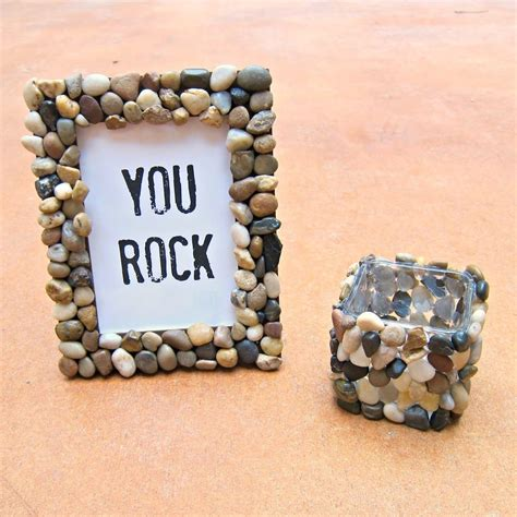 Diy Rock Picture Frame