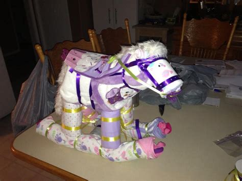 Diy Rocking Horse Diaper Cake