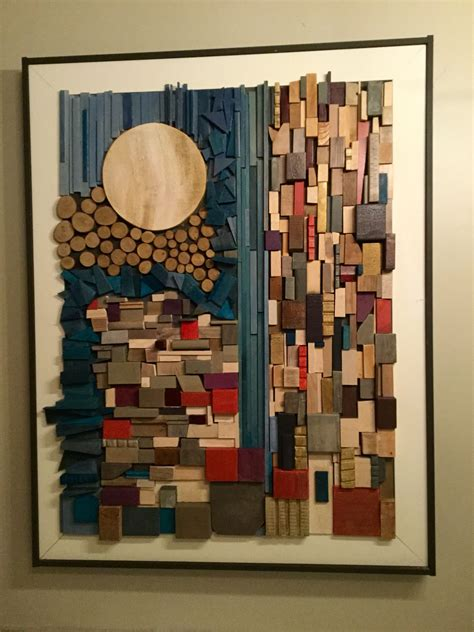 Diy Rocks And Wood Wall Sculpture