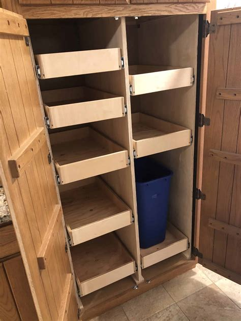 Diy Roll Out Pantry Shelves