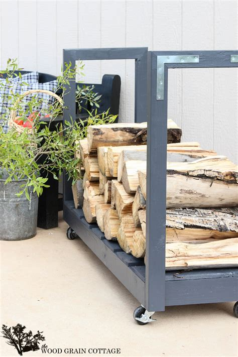Diy Rolling Firewood Cart Step By Step