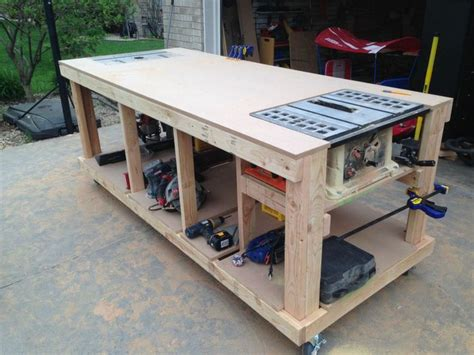Diy Rolling Workbench For Shop