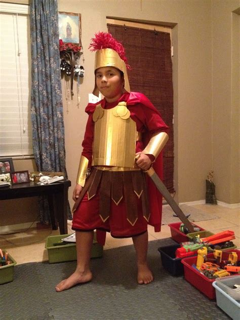 Diy Roman Armor Costume Kids