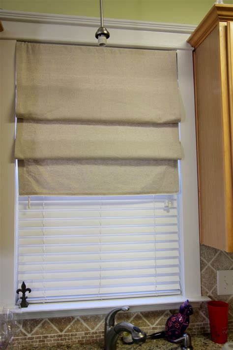 Diy Roman Shades From Faux Wood Blinds