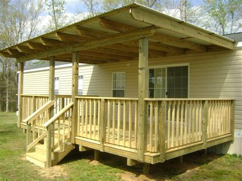 Diy Roof Over Porch On Trailer Home