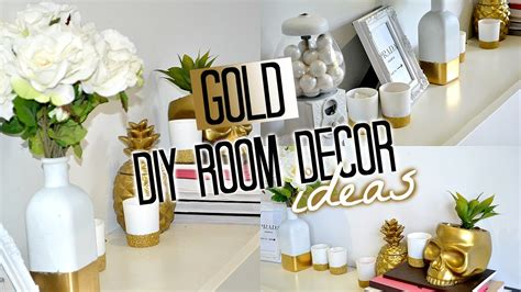 Diy Room Decor Youtube Gold And White