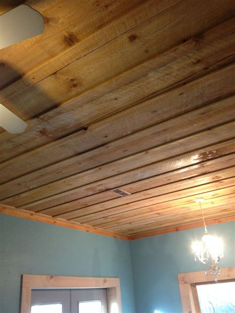 Diy Rough Cut Wood Ideas Ceiling