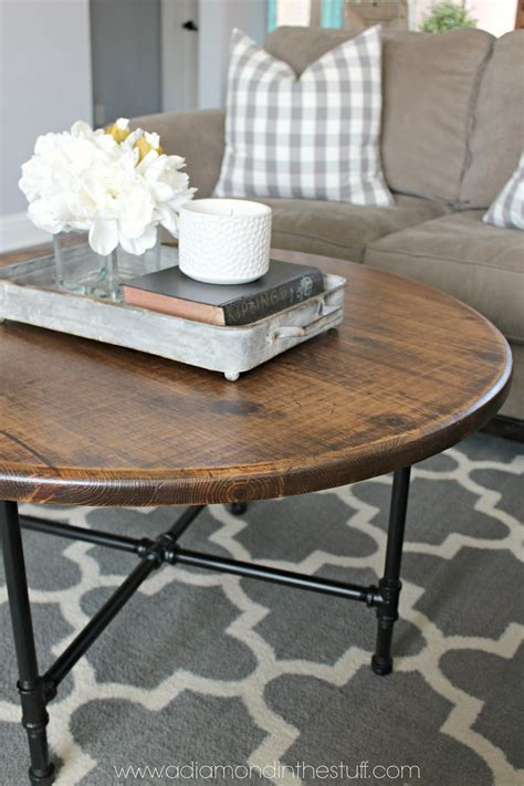 Diy Round Coffee Table Makeover