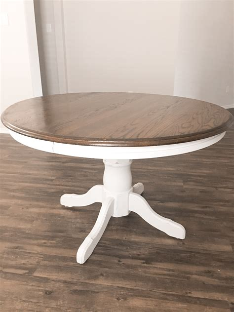 Diy Round Dining Table Refinish
