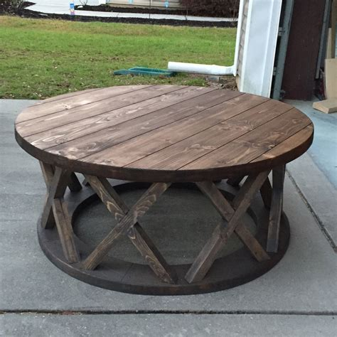 Diy Round Farmhouse Coffee Table