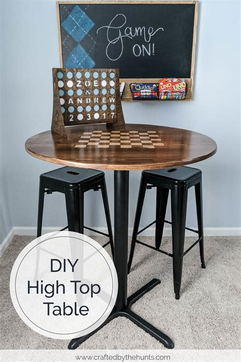 Diy Round High Top Table