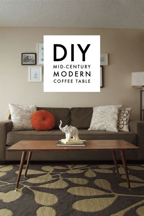 Diy Round Mid Century Coffee Table