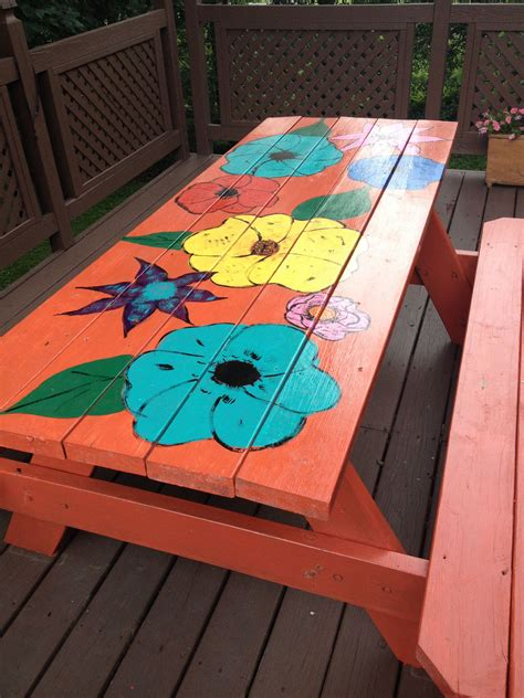Diy Round Picnic Table Painting