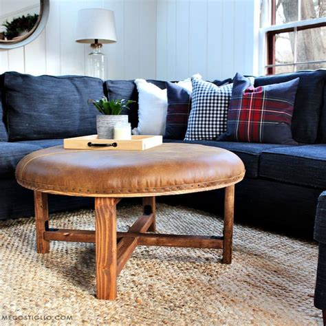 Diy Round Upholstered Ottoman