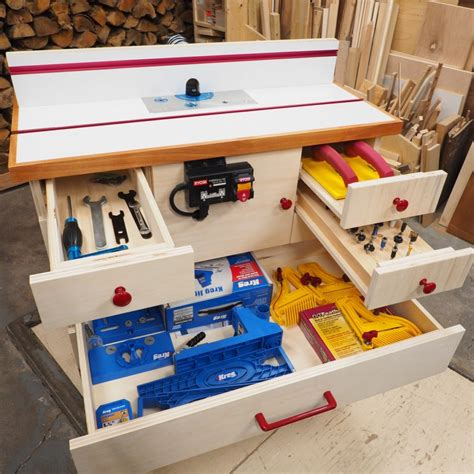 Diy Router Cabinet